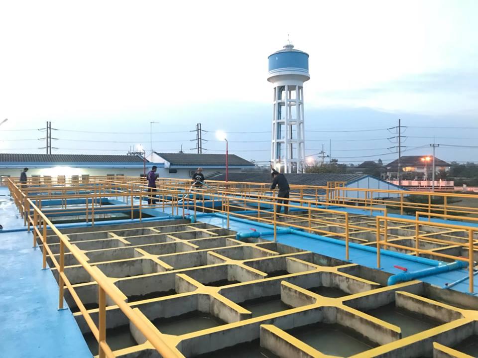 การประปาส่วนภูมิภาค(กปภ.)สาขาอรัญประเทศ ดำเนินการตามแผนโครงการ Water Safety Plan (WSP) ดำเนินการล้างถังตกตะกอนประจำเดือนมกราคม 2561 ณ สถานีผลิตน้ำบ้านด่าน