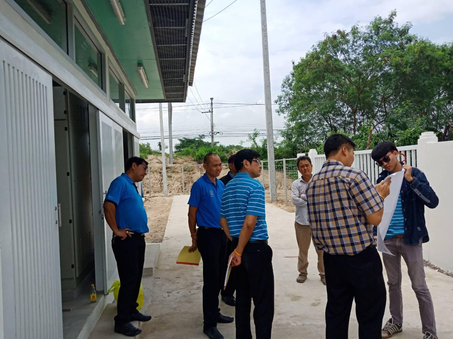 กปภ.สาขาพัทยา (พ) ตรวจรับงานการก่อสร้างสถานีจ่ายน้ำตาสิทธิ์