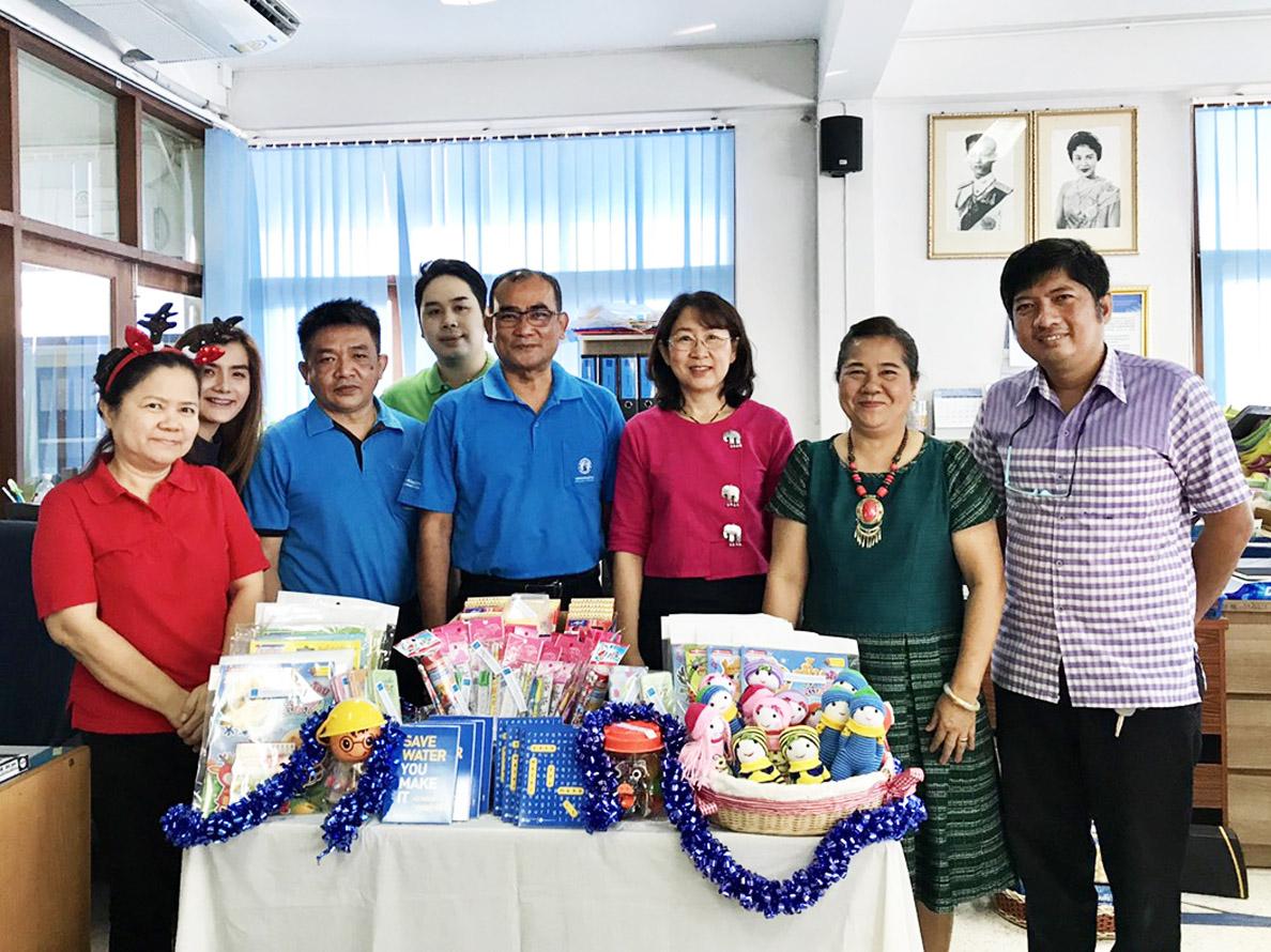 กปภ.สาขาบ้านบึง จัดกิจกรรมวันเด็ก และร่วมสนับสนุนน้ำดื่ม พร้อมของขวัญกิจกรรมวันเด็กแห่งชาติ ประจำปี 2562