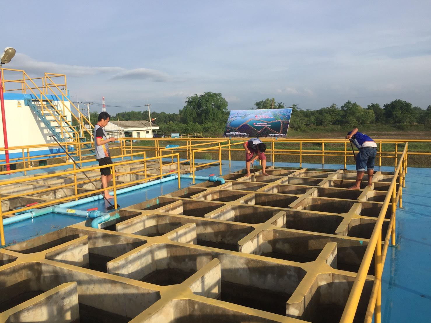 ดำเนินการล้างถังตะกอน ประจำเดือนมิถุนายน ตามแผนจัดการน้ำสะอาด (WSP) ณ สถานีผลิตน้ำบ้านด่าน