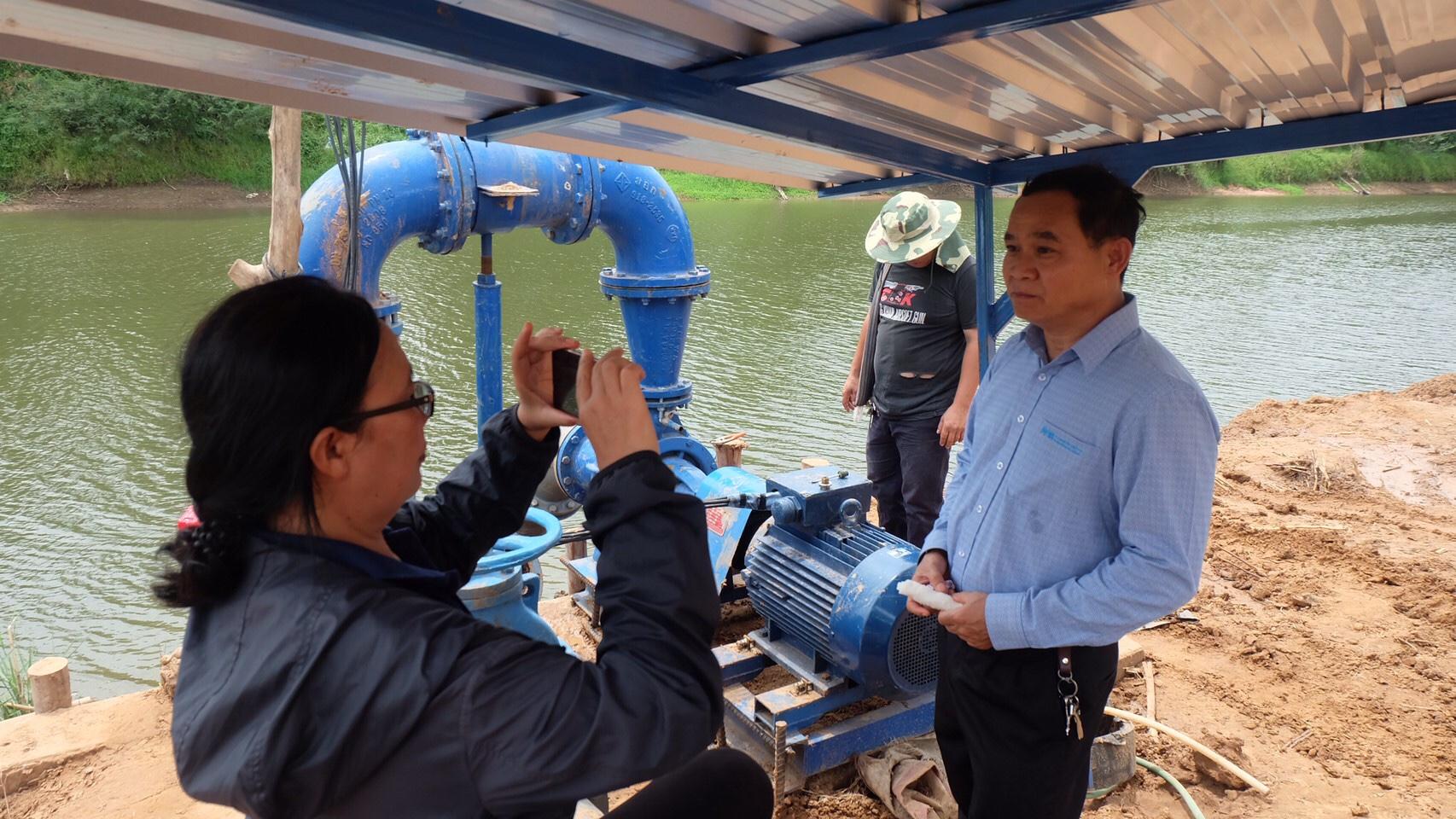 กปภ.สาขาขอนแก่น(พ) รายงานการติดตามสถานการณ์ภัยแล้ง และแก้ปัญหาแม่น้ำชีลดระดับต่ำลง จากสภาวะฝนทิ้งช่วง เป็นระยะเว