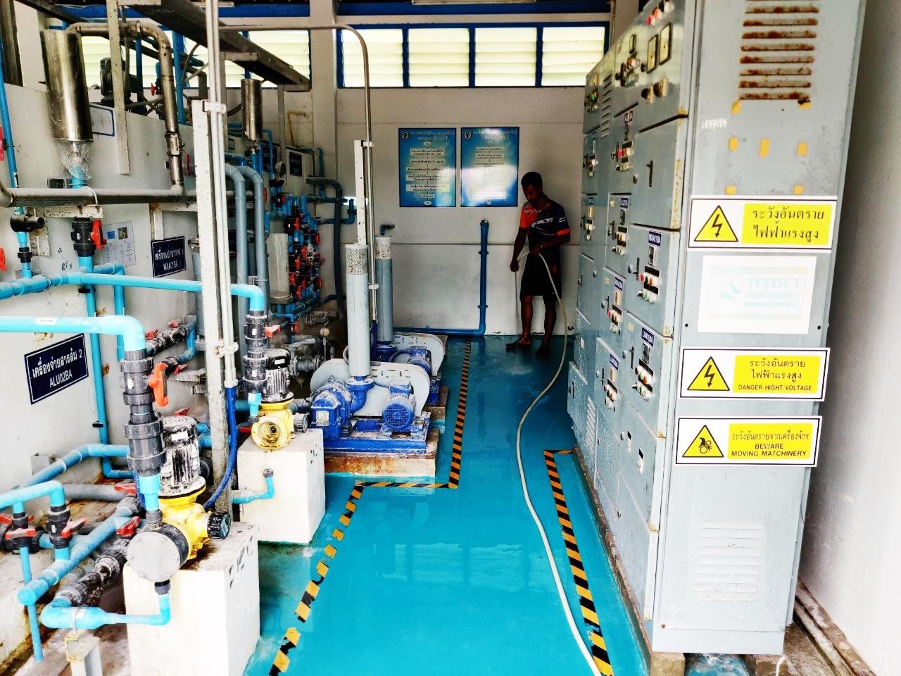 กปภ.สาขาคลองใหญ่ จัดกิจกรรม Big Clearning Day ณ สถานีผลิตน้ำบางอิน อ.คลองใหญ่ จ.ตราด