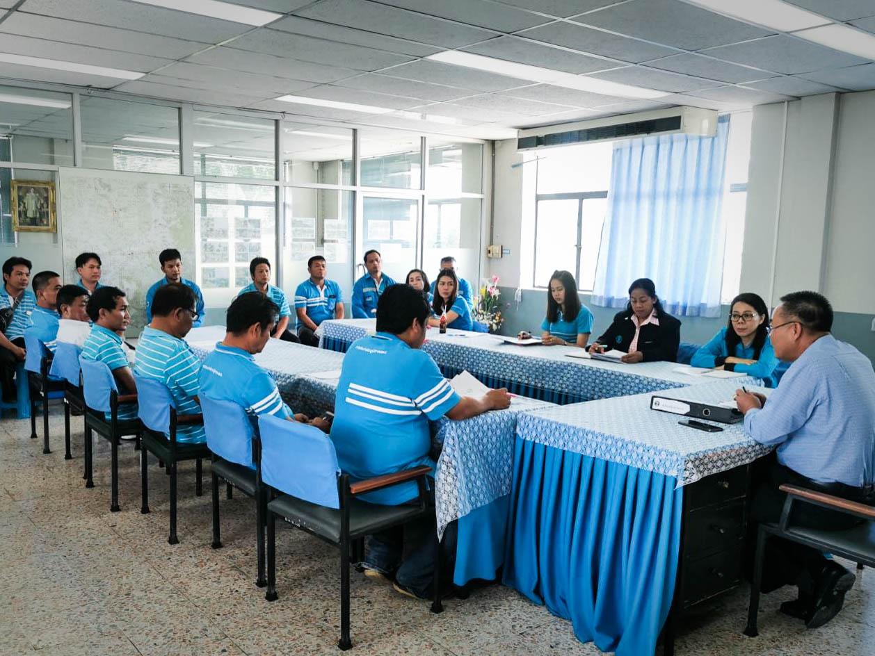 การประปาส่วนภูมิภาคสาขาบ้านหมี่ จัดกิจกรรมสนทนายามเช้า(Morning Talk) ประจำเดือนตุลาคม 2562