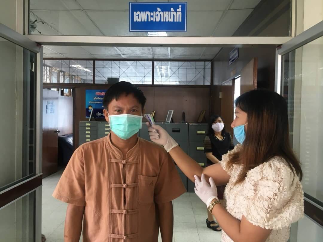 กปภ.สาขาปากช่อง ตั้งรับการแพร่ระบาดของไวรัสโควิท-19 คัดกรองพนักงานและผู้ใช้น้ำก่อนเข้ารับบริการ