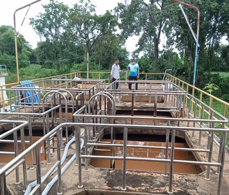 การประปาส่วนภูมิภาคสาขาครบุรี ปรับปรุงล้างถังตกตะกอน เพื่อให้ผู้ใช้น้ำมั่นใจในคุณภาพน้ำประปา