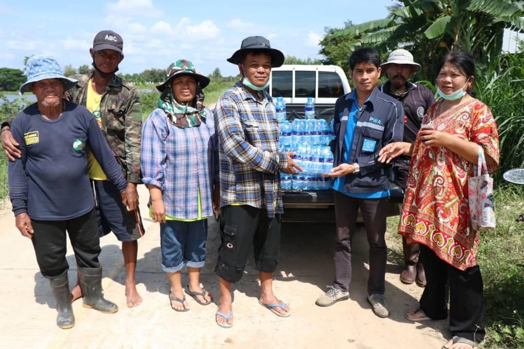 กปภ.สาขาชุมพวง เข้าร่วมกิจกรรมกำจัดวัชพืชเพื่อเร่งผลักดันน้ำลงสู่ลำน้ำมูลเพื่อป้องกันปัญหาน้ำท่วมในชุมชน