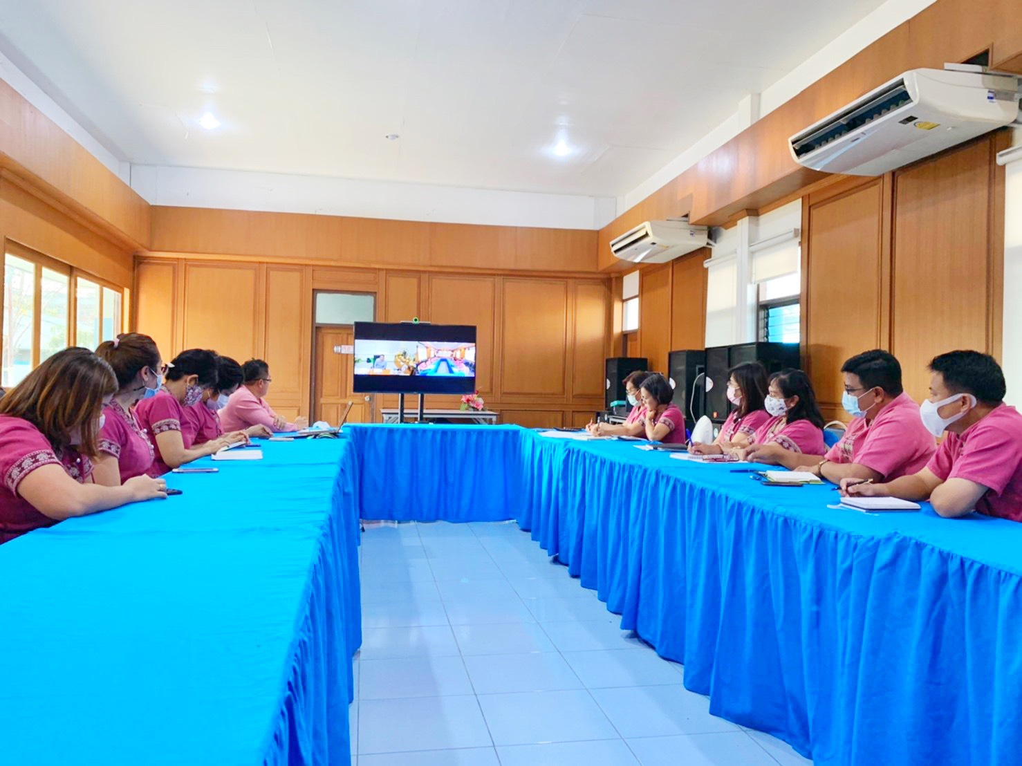 กปภ.สาขาปทุมธานี ประชุมทางไกลวิดีโอคอนเฟอเรนซ์ (Video Conference) ร่วมกับ ผวก.กปภ.