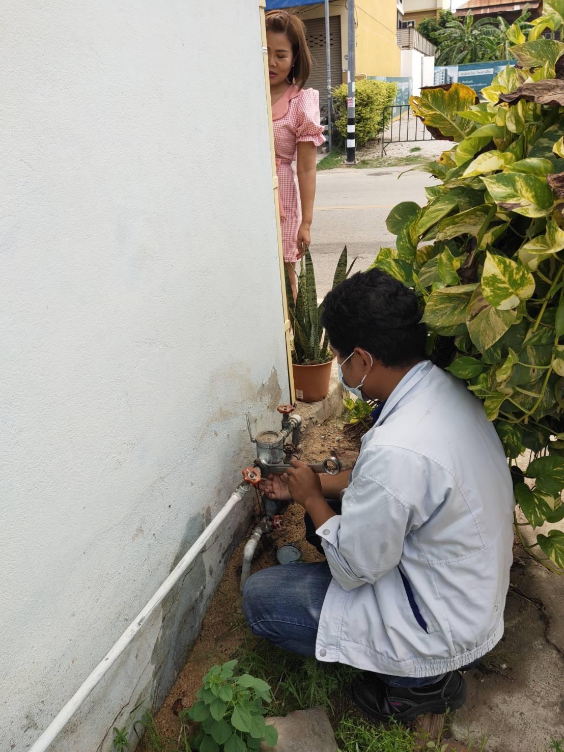 กปภ.สาขากำแพงเพชร จัดส่งมิสเตอร์ประปาตรวจสอบน้ำรั่ว