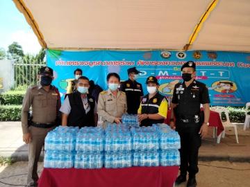 กปภ.สาขานครศรีธรรมราช มอบน้ำดื่มบรรจุขวดตราสัญลักษณ์ กปภ. สนับสนุบการปฏิบัติงานของเจ้าหน้าที่และบริการประชาชนผู้