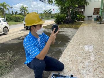 กปภ.สาขามหาสารคาม ตรวจสอบและเฝ้าระวังคุณภาพน้ำในระบบจำหน่ายตามโครงการน้ำประปาดื่มได้