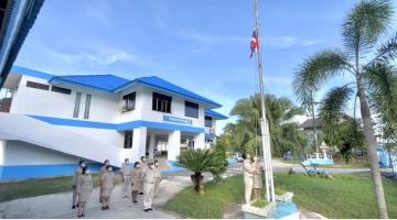 กปภ. สาขาชะอวด จัดกิจกรรมเชิญธงชาติไทย