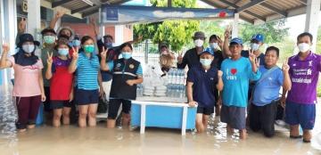 กปภ.สาขากาญจนบุรี ร่วมใจช่วยภัยน้ำท่วม กปภ.สาขาเลาขวัญ