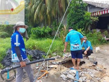 กปภ.สาขาตะกั่วป่า รุกซ่อมท่อแตก/รั่ว เพื่อลดน้ำสูญเสีย
